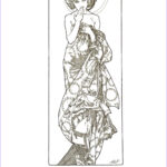 Mucha Coloring Book Beautiful Image Alphonse Mucha Free Coloring Pages