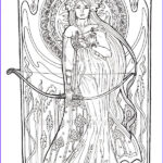 Mucha Coloring Book Beautiful Stock Alphonse Mucha Free Coloring Pages