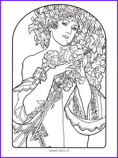 Mucha Coloring Book Best Of Photos Creative Haven Art Nouveau Designs Coloring Book by