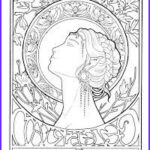 Mucha Coloring Book Cool Stock Mucha Coloring Pages On Pinterest