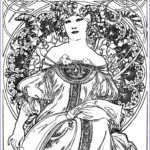 Mucha Coloring Book New Images 191 Best Art Nouveau Coloring Pages Images On Pinterest