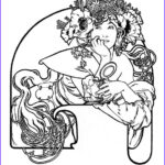 Mucha Coloring Book New Photography Alfons Mucha's Art Nouveau Works