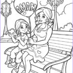 Mum Coloring Page Beautiful Gallery Printable Happy Mother And Daughter In The Park Coloring