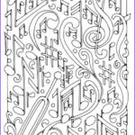 Music Coloring Pages Awesome Collection Art Therapy Coloring Page Music Musical Notes 3