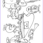 Music Coloring Pages Awesome Collection Musical Instruments Coloring Pages 24