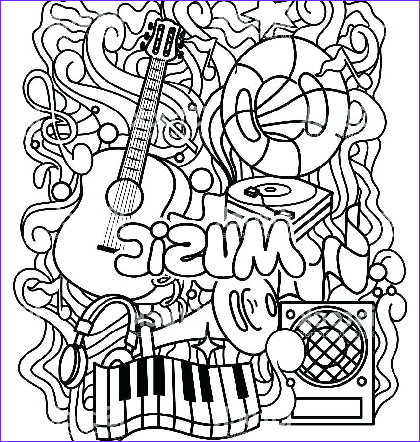 free printable coloring sheets musical sketch templates