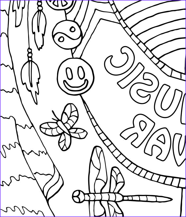 Music Coloring Pages Beautiful Photos Coloring Page for Adults Make Music Printable by Candyhippie