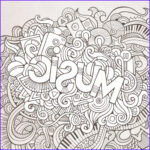 Music Coloring Pages Beautiful Photos Music Black And White Doodle Kidspressmagazine