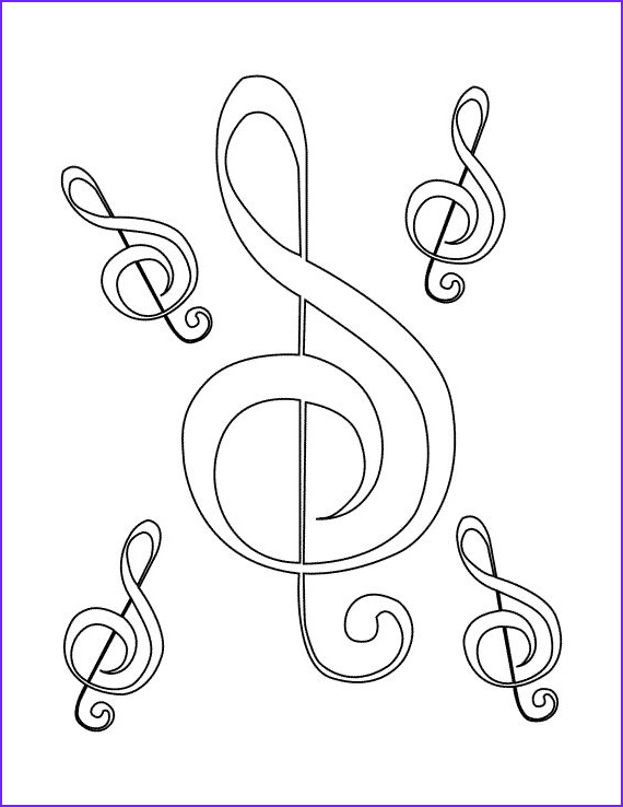 music colouring pages