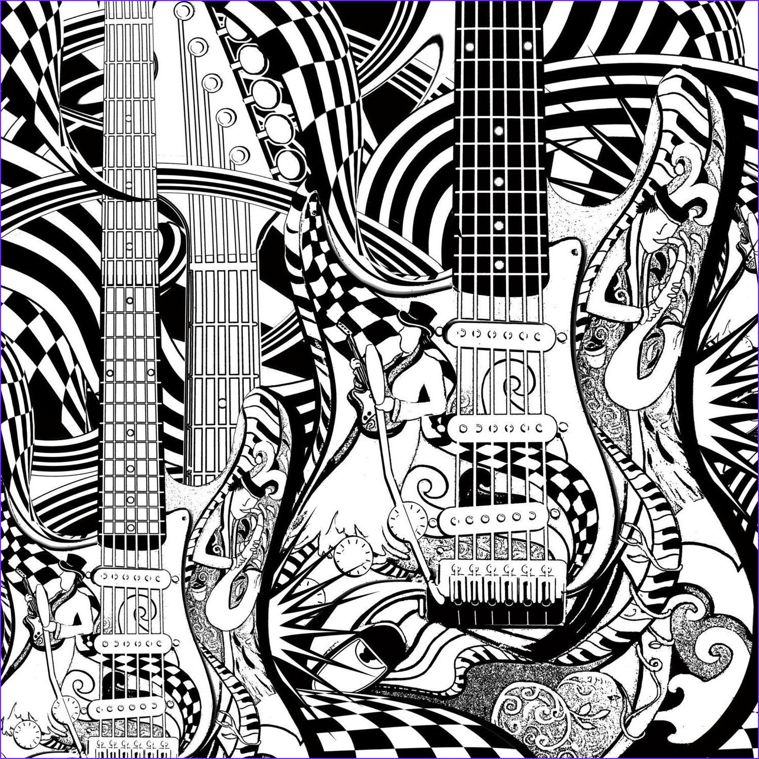 Music Coloring Pages Elegant Photos Adult Coloring Page Printable Guitar Coloring Pages