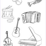 Music Coloring Pages Inspirational Photos Musical Instruments Coloring Pages To And Print