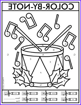 Music Coloring Pages New Stock Christmas Color by Note Music Coloring Pages by