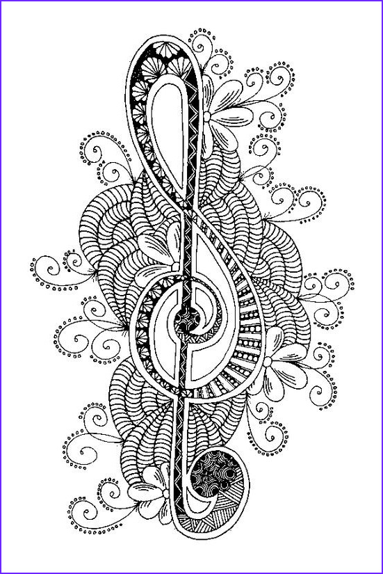 """Music Note Coloring Pages Beautiful Photos Icolor """"music"""" Treble Clef 551x825"""