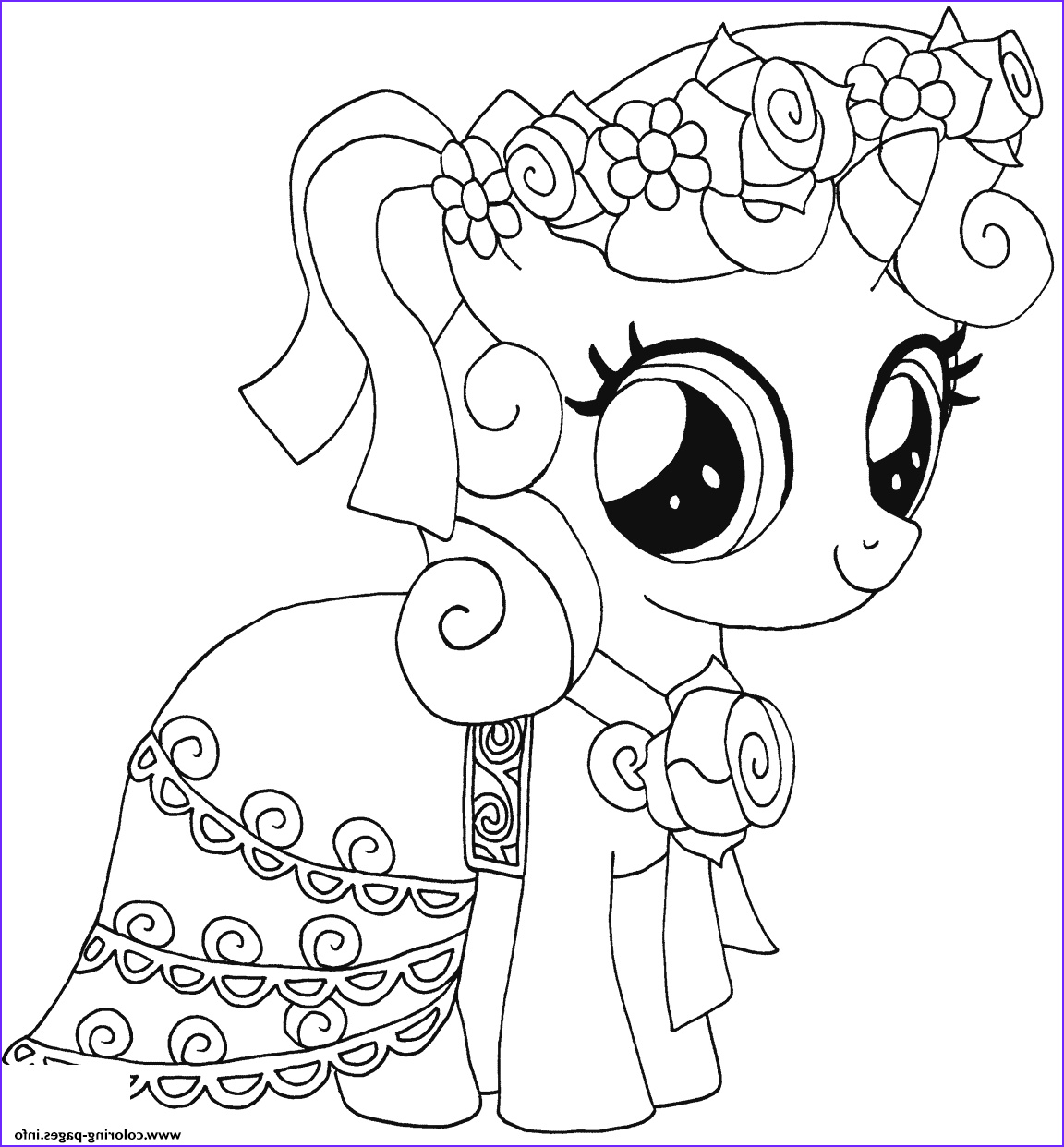 sweetie belle my little pony printable coloring pages book