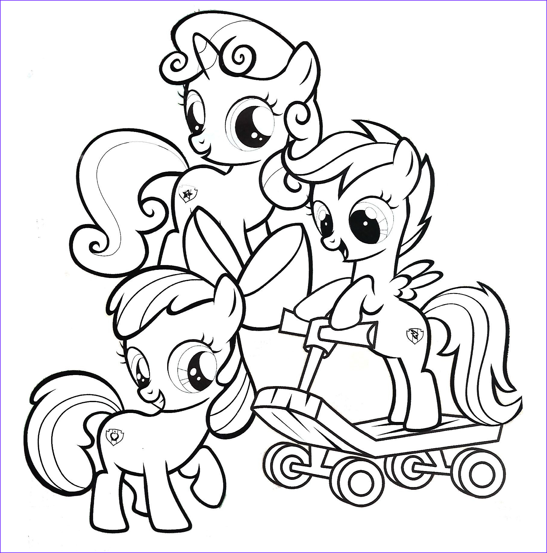 My Little Pony Coloring Pages to Print Cool Gallery Cutie Mark Crusaders My Little Pony Coloring Page