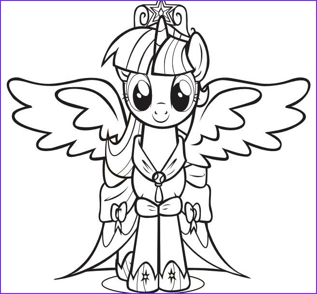 My Little Pony Coloring Pages Twilight Sparkle New Photos Print the Princess Twilight Sparkle Little Pony Coloring