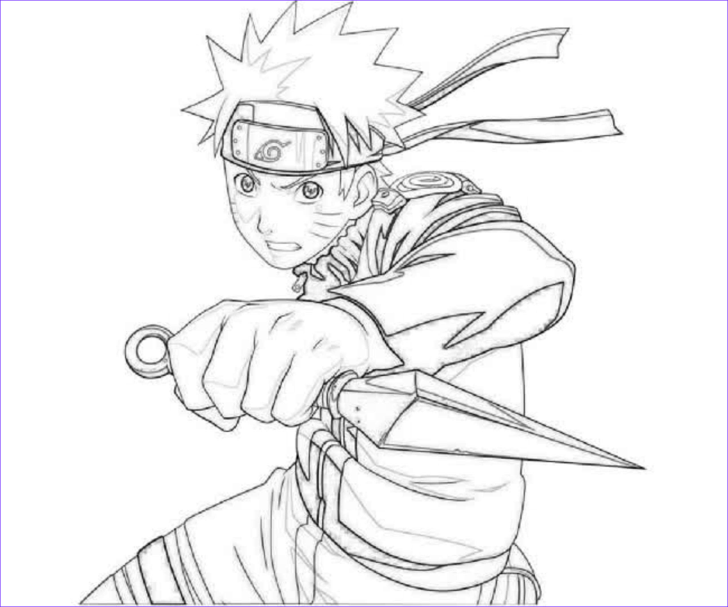printable naruto coloring pages kids occupied