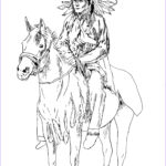 Native American Coloring Luxury Gallery Native American On His Horse Native American Adult