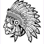 Native American Coloring New Gallery Indian Native Chief Profile Native American Adult