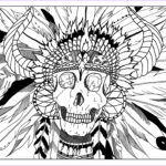Native American Coloring Pages Beautiful Image Skull Indian Native American Adult Coloring Pages