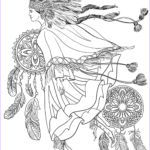 Native American Coloring Sheets Awesome Collection Indigenous Woman In A Traditional Costume Coloring Page