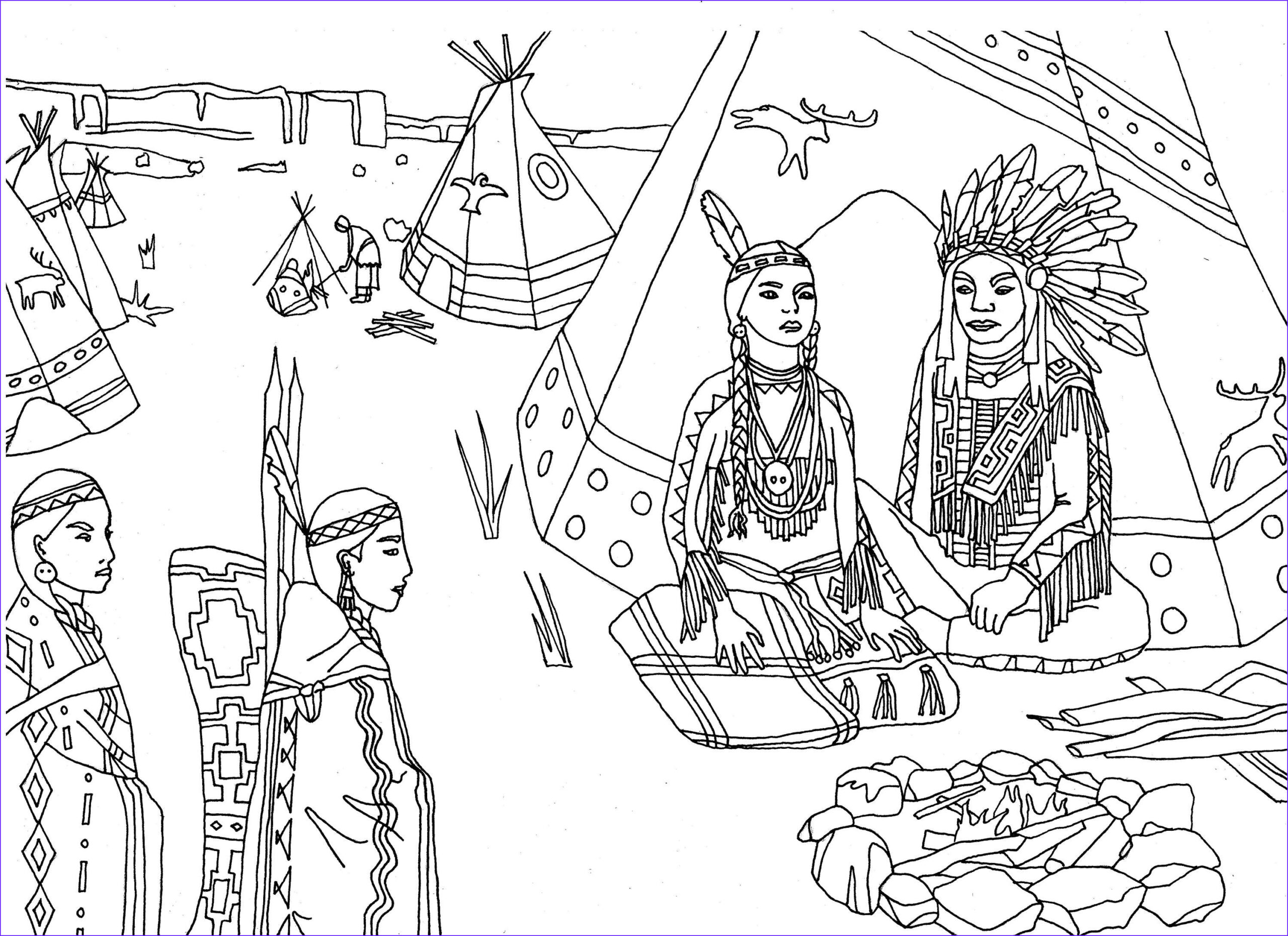 Native American Coloring Sheets Beautiful Photos Free Coloring Page Coloring Adult Native Americans Indians