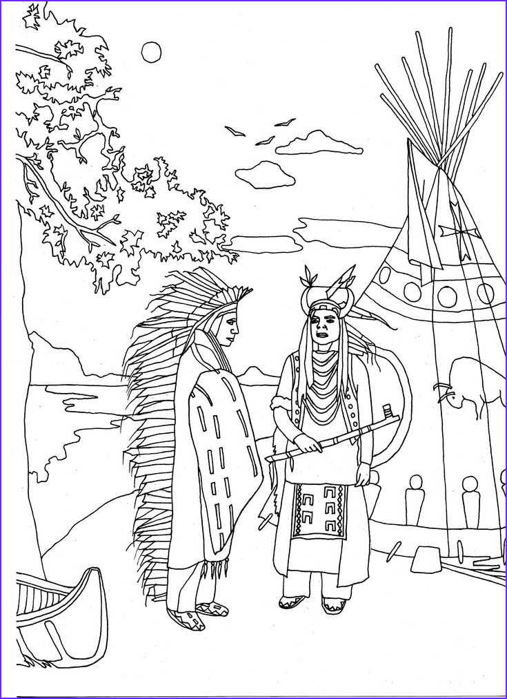 Native American Coloring Sheets Inspirational Photos Free Coloring Page Coloring Adult Two Native Americans by