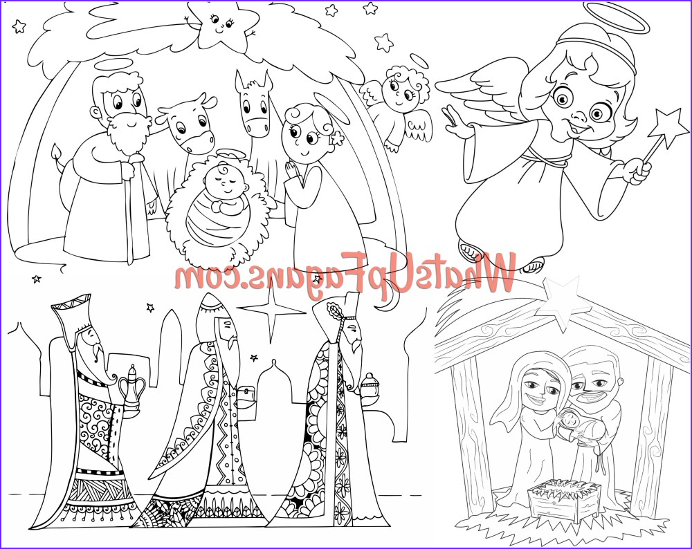nativity coloring pages kids