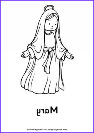 Nativity Coloring Pages for Preschool Awesome Gallery Nativity Colouring Pages Mary Kids Church