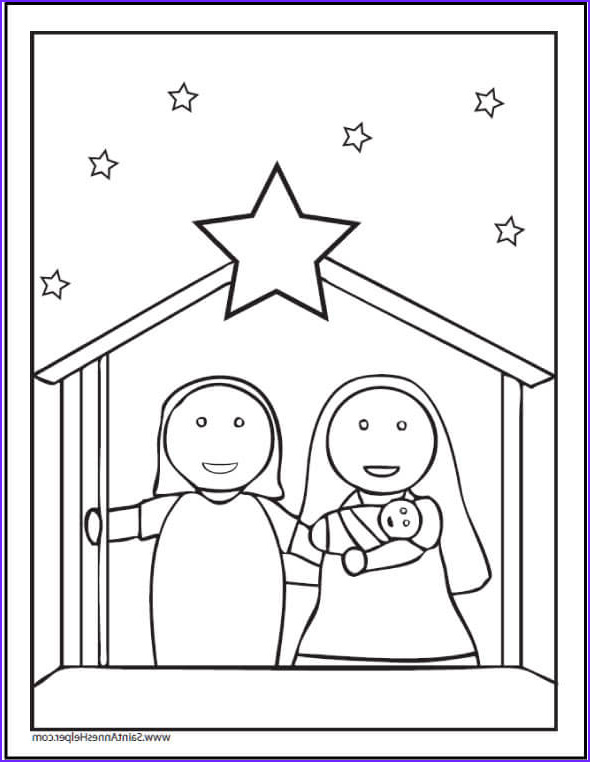 Nativity Coloring Pages for Preschool Best Of Gallery 15 Printable Christmas Coloring Pages Jesus & Mary