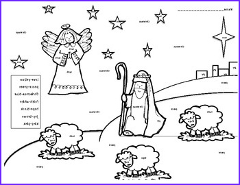 Nativity Coloring Pages for Preschool Cool Photography Nativity Color by Christmas Word Kindergarten by My Kind