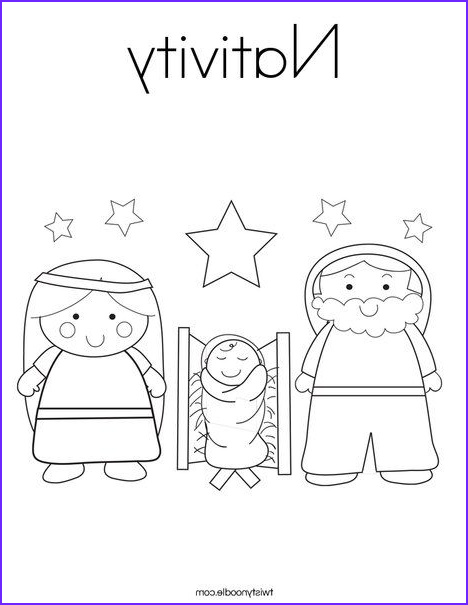 Nativity Coloring Pages for Preschool Cool Photography Nativity Coloring Page Twistynoodle