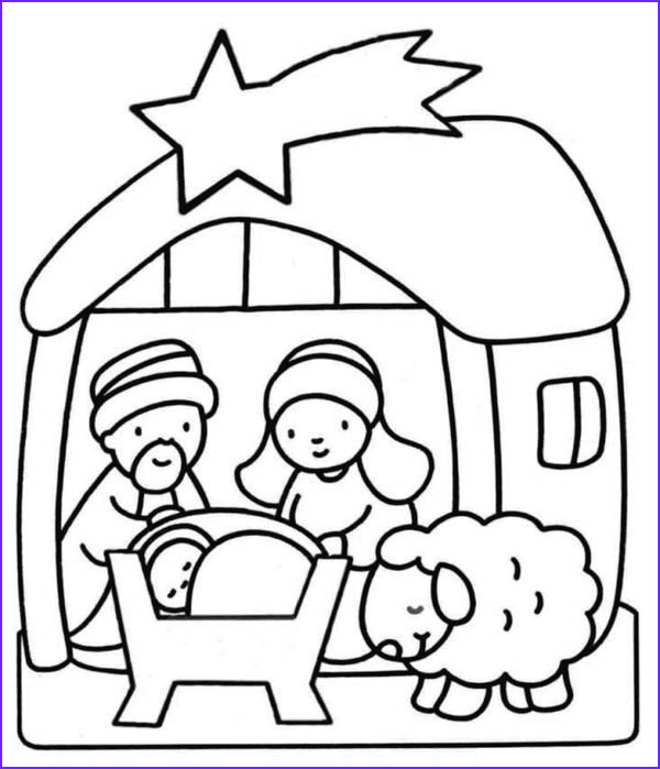 Nativity Coloring Pages for Preschool Elegant Collection Nativity Scene for Kindergarten Kids Coloring Page