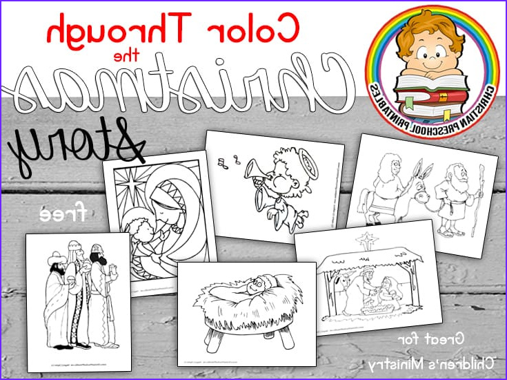 Nativity Coloring Pages for Preschool Inspirational Collection Nativity Scene Bible Coloring Pages Christian Preschool