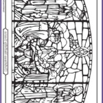 Nativity Coloring Pages Free Printable Best Of Photos 21 Stained Glass Coloring Pages Church Window Printables