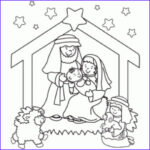 Nativity Coloring Pages Printable Awesome Photos Line Christmas Nativity Printables