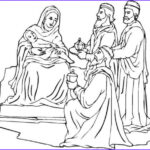 Nativity Coloring Pages Printable Cool Photos Line Christmas Nativity Printables