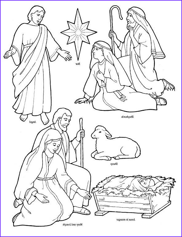 Nativity Coloring Unique Stock Printable Nativity Coloring Page to Cut Out and Make Your
