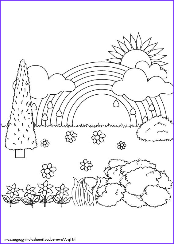 Nature Coloring Book Beautiful Photos Nature Coloring Pages Educational Fun Kids Coloring