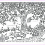 Nature Coloring Book Cool Photography Items Similar To Printable Tree & River Nature Scene
