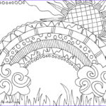 Nature Coloring Book Inspirational Collection Nature Coloring Pages Doodle Art Alley
