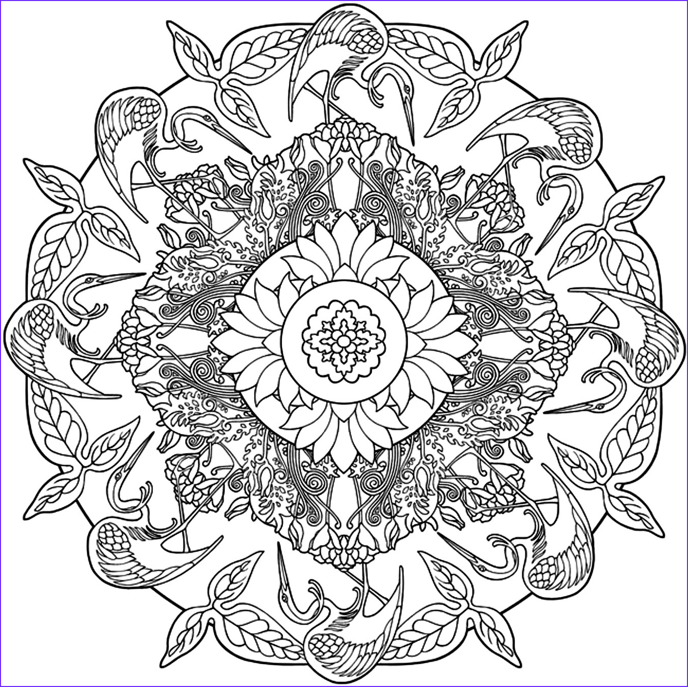 Nature Coloring Pages for Adults Beautiful Photos Free Printable Adult Coloring Pages