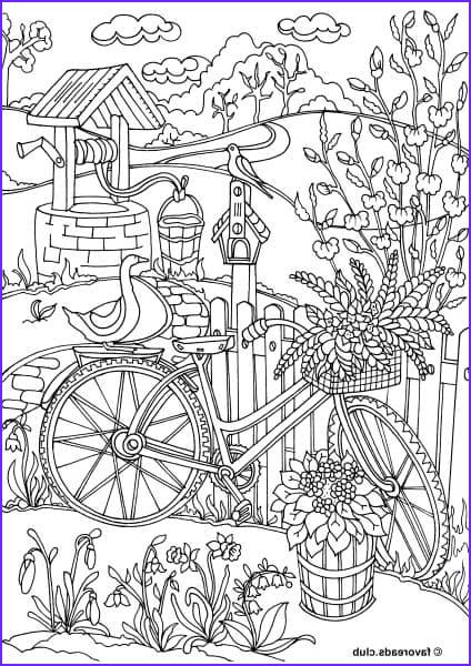 best adult coloring pages to print featuring country spring