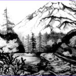 Nature Coloring Pages For Adults New Photos Free Coloring Pages Scenery