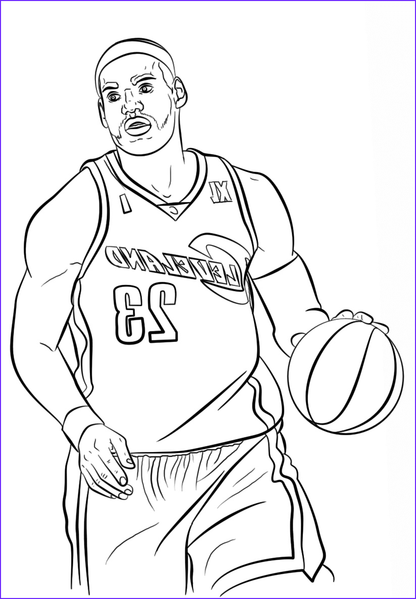 nba coloring pages
