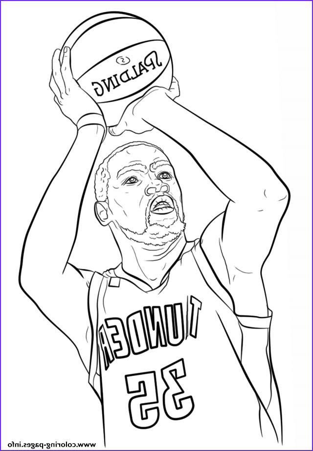 kevin durant nba sport printable coloring pages book
