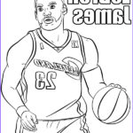 Nba Coloring Book Luxury Images Basketball Players Coloring Page Le Bron James Printable