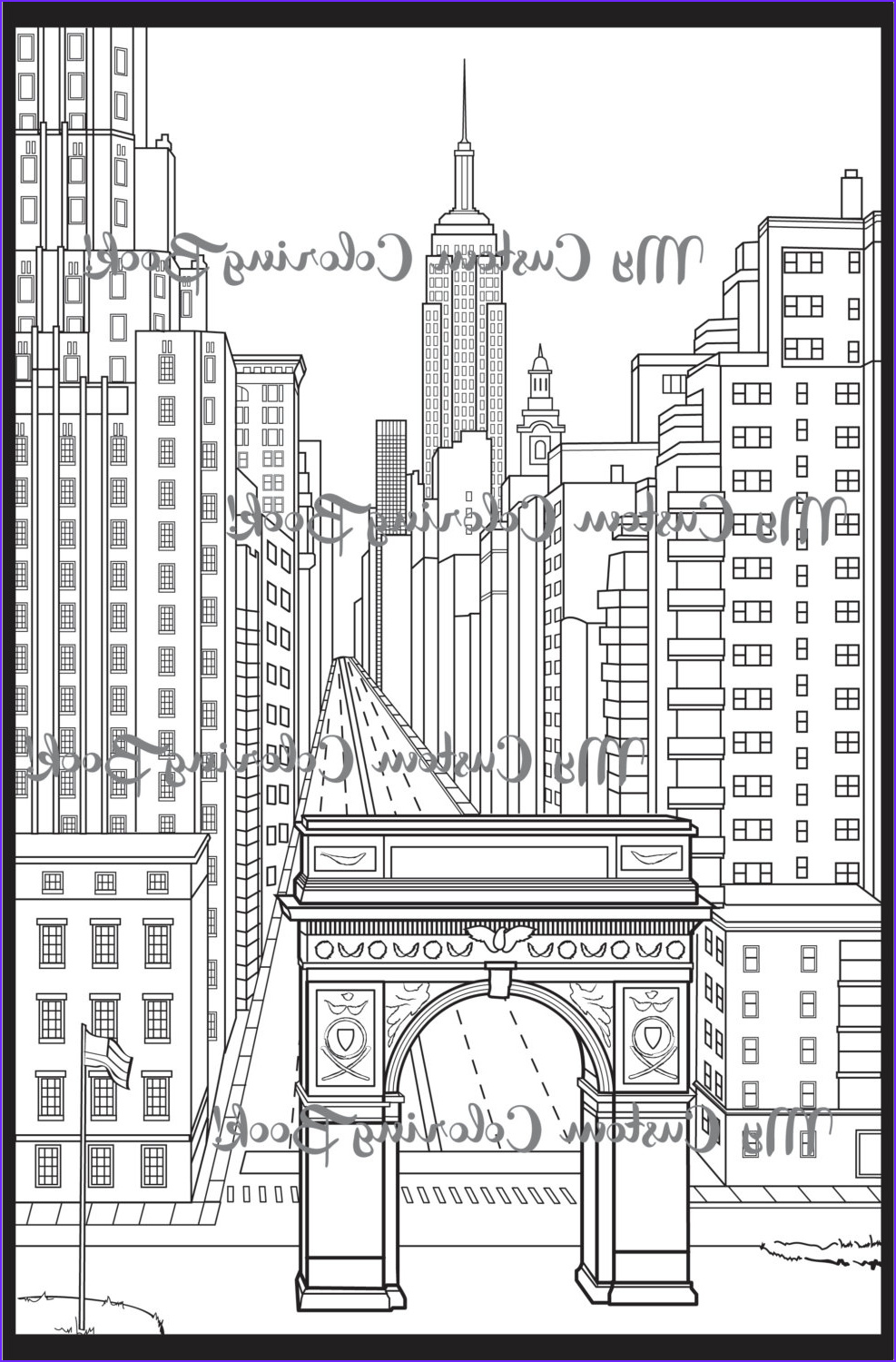 new york city coloring page