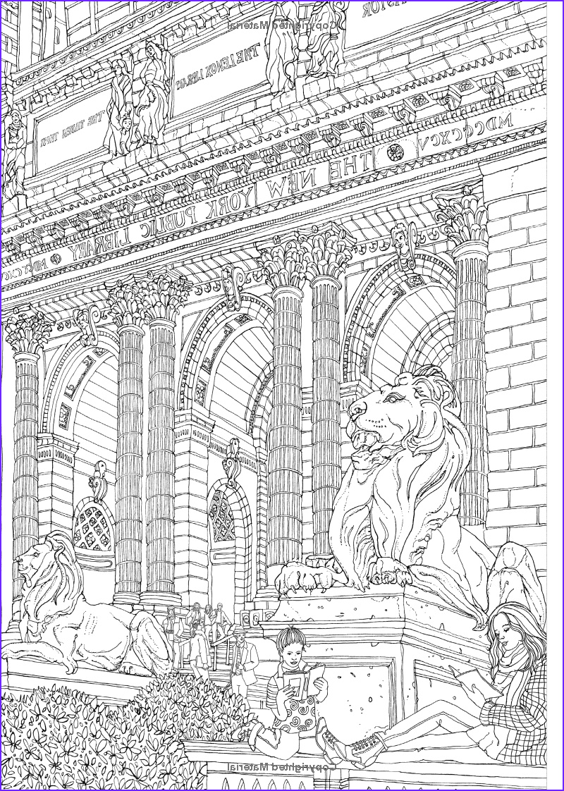 New York Coloring Books Cool Stock Color New York 20 Views to Color In by Hand Emma Kelly