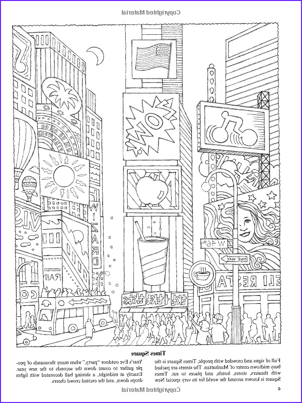 New York Coloring Books Elegant Gallery New York for Kids 25 Big Apple Sites to Color Dover